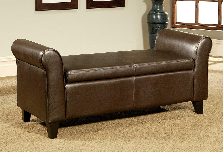 Tremendous Abbyson Living Easton Bonded Leather Storage Ottoman Bench Creativecarmelina Interior Chair Design Creativecarmelinacom