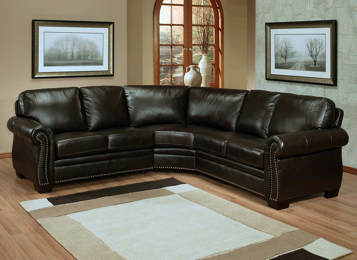 Abbyson Living Oxford Italian Leather Sectional Sofa