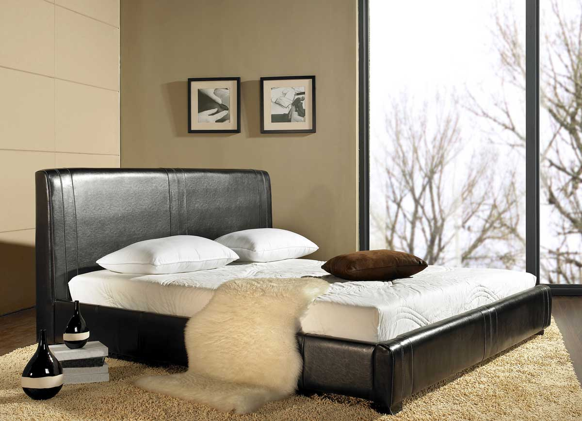 Abbyson Living Livingston Leather Bed
