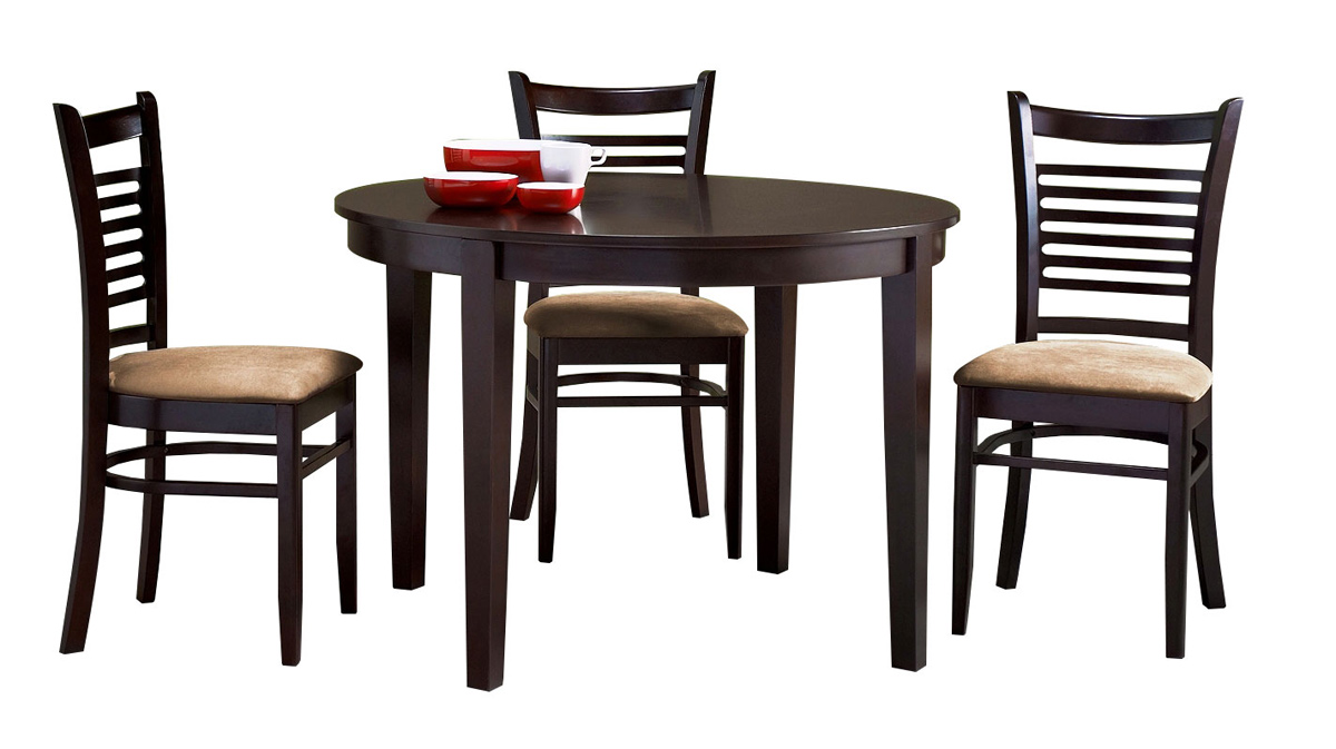 Abbyson Living Bahama Cappucino Wood Round 5 Piece Dining Set - Brown