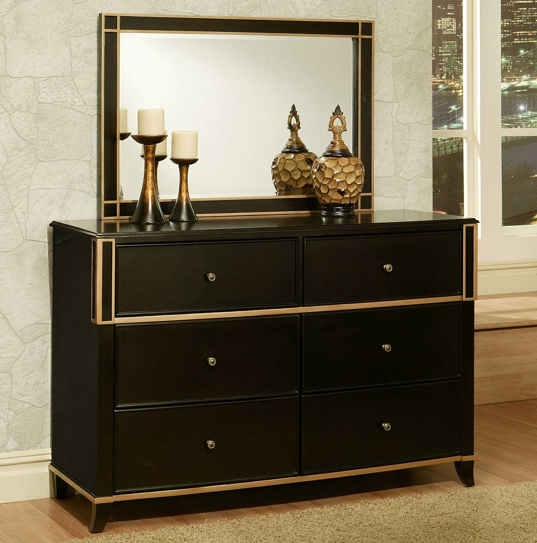 Abbyson Living Soho 6 Drawer Dresser and Mirror Set