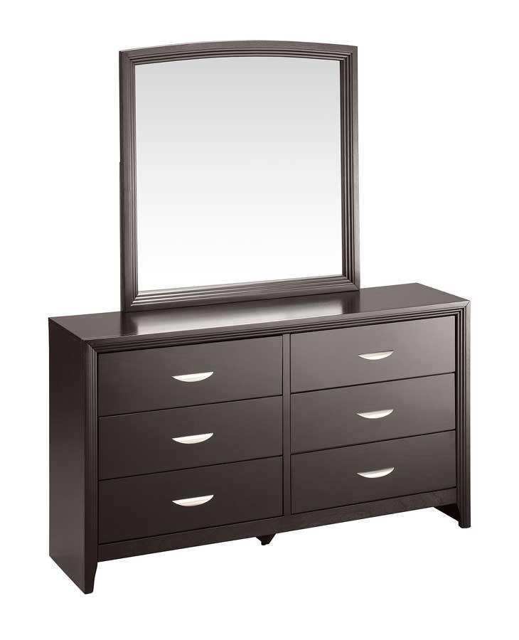Abbyson Living Allegra 6 Dresser with Mirror