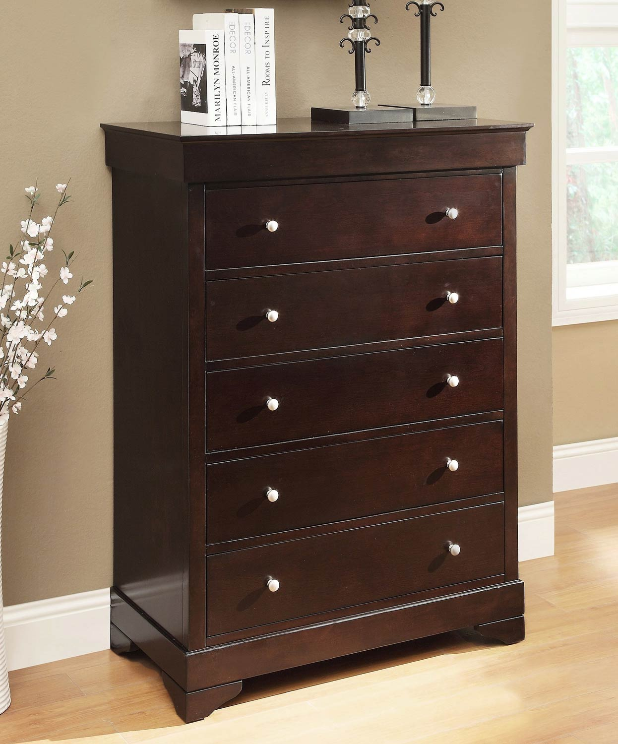 Abbyson Living Marseilles 5 Drawer Chest - Espresso