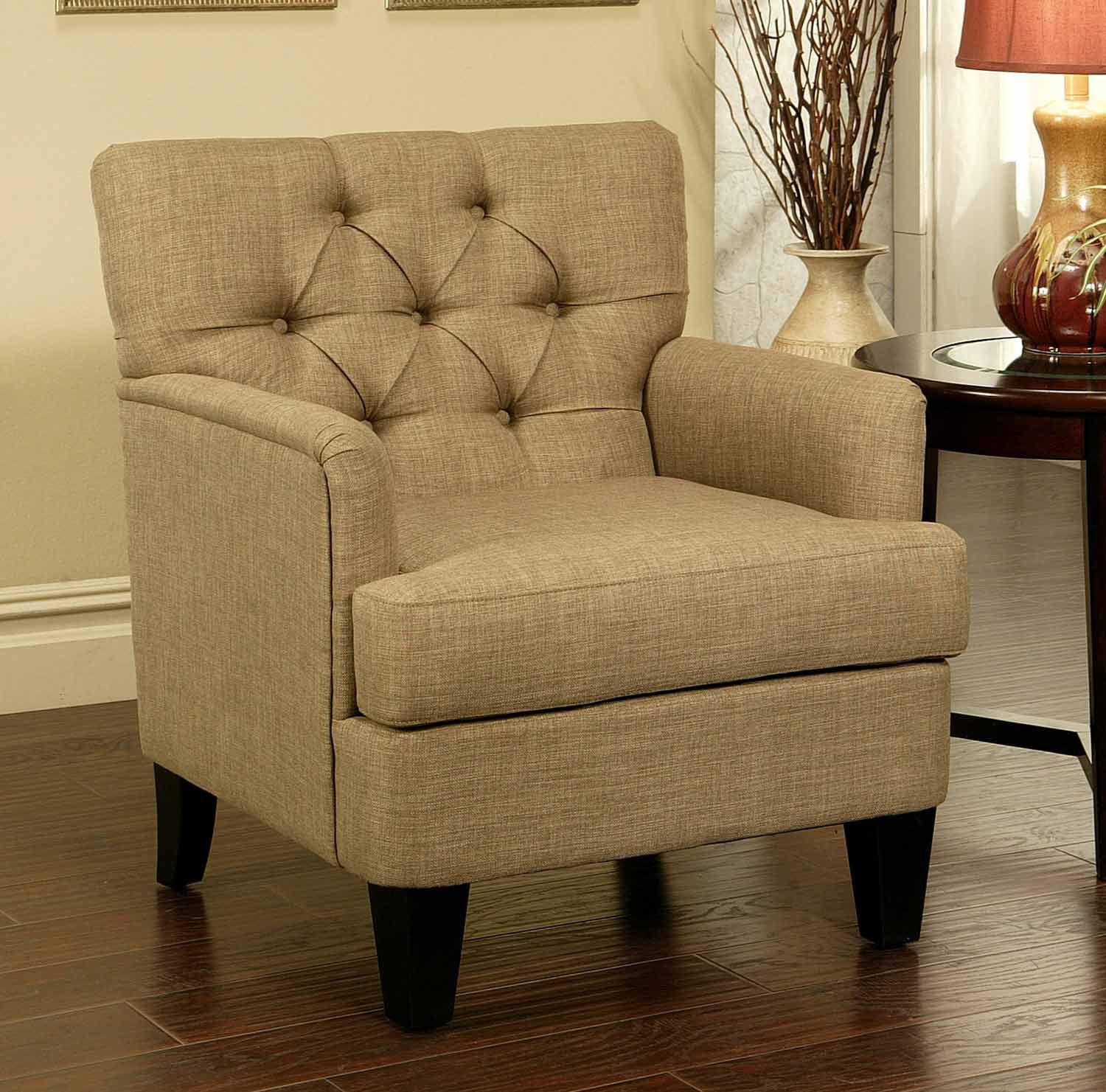 Abbyson Living Freemont Tufted Fabric Club Chair