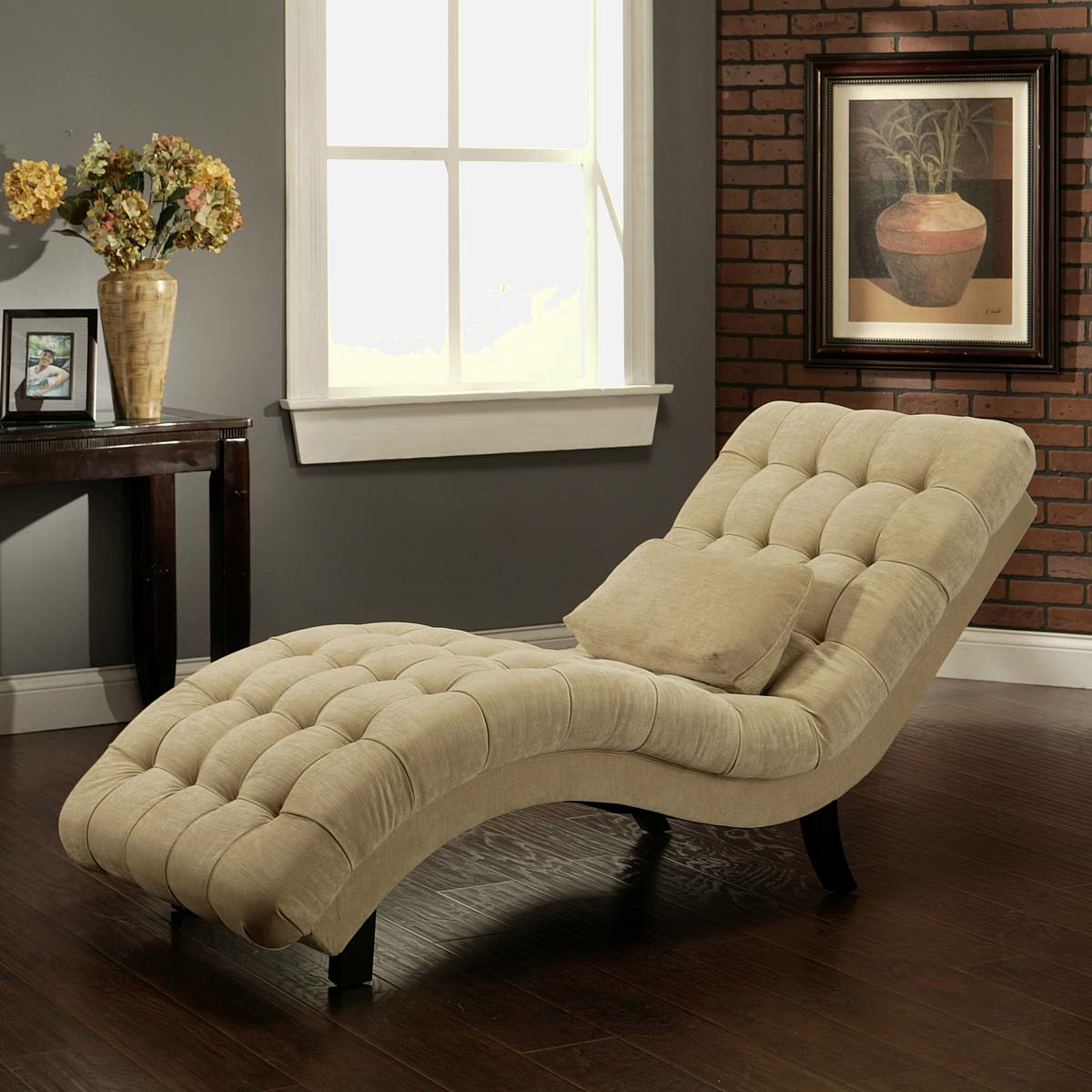 abbyson living soho cream fabric chaise ab hs sf 250 bge