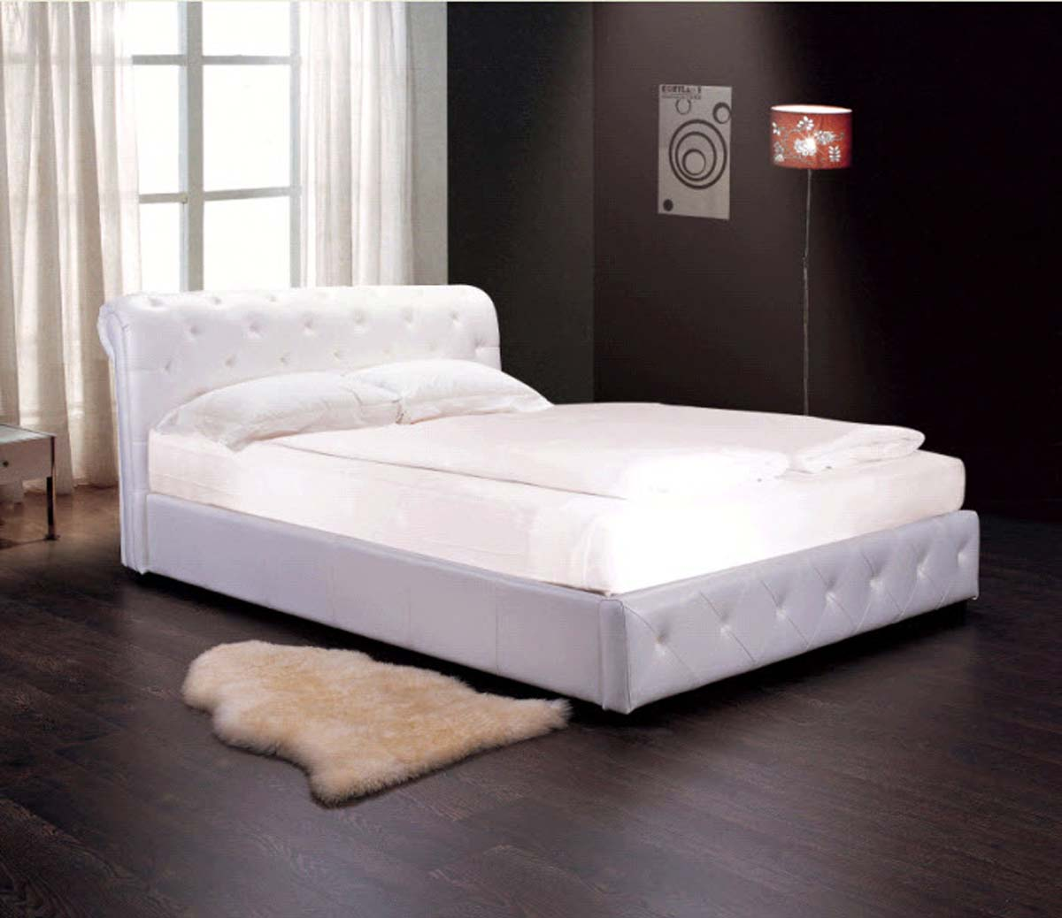 Abbyson Living Delano Faux Leather Bed