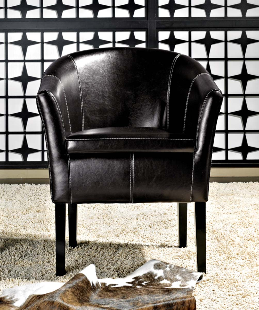 Abbyson Living Trianna Espresso Bonded Leather Club Chair