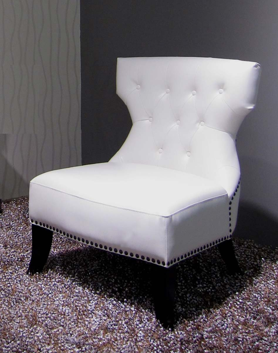 Abbyson Living Bentley White Leather Club Chair