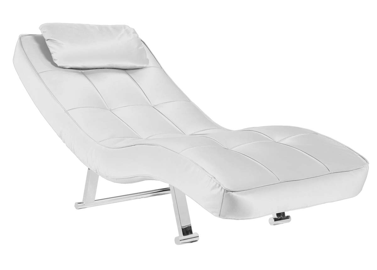 Abbyson living capri white euro chaise ab ms x p172 wht at for Chaise 20 euros