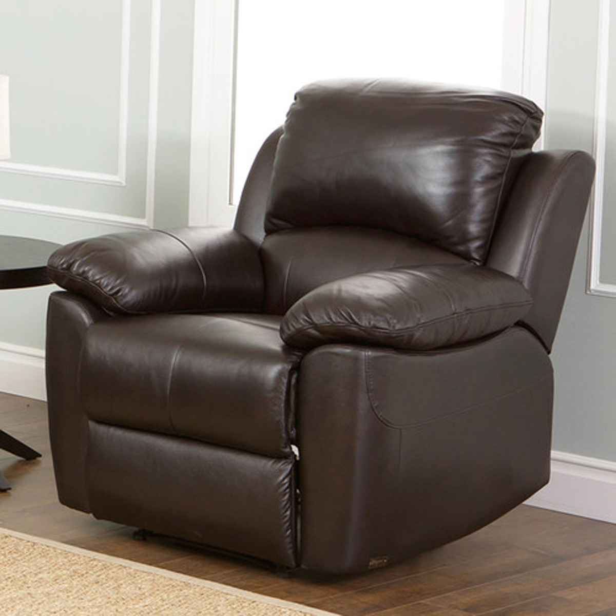 Abbyson Living Westwood Top Grain Leather Chair - Brown