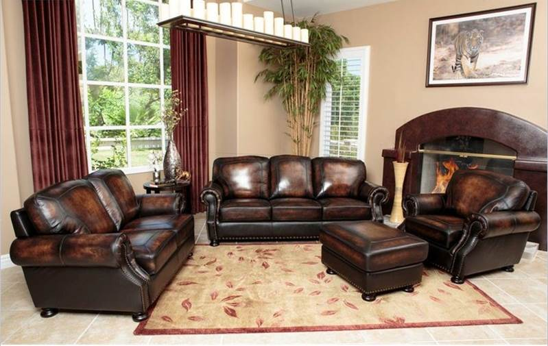 Magnificent Abbyson Living Ellis 4 Piece Sofa Set Home Interior And Landscaping Mentranervesignezvosmurscom