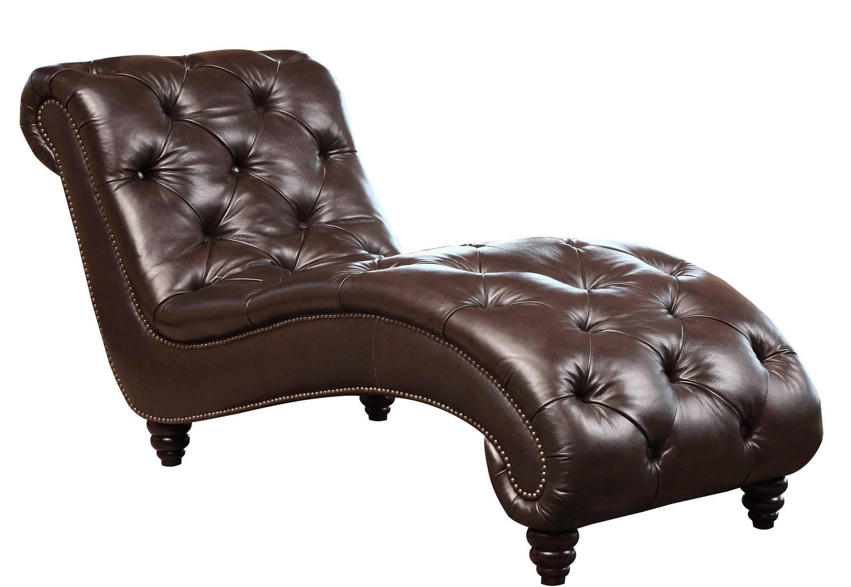 Abbyson living berkley leather chaise brown ab sk 2326 for Abbyson living sedona leather chaise recliner