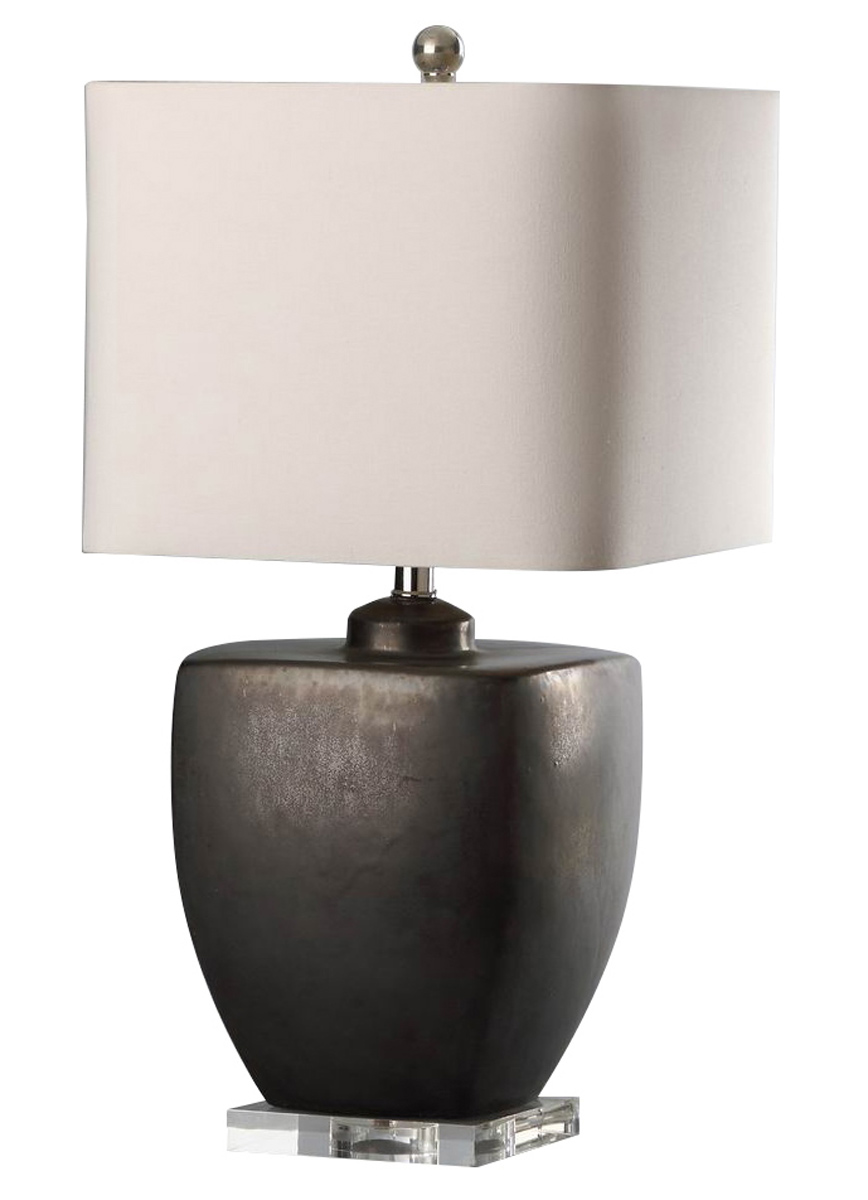 Abbyson Living Bailey Ceramic Table Lamp - Grey