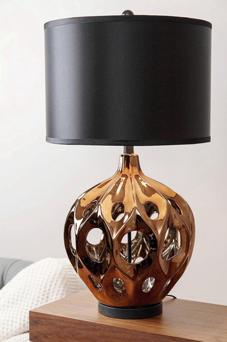 Abbyson Living Sofia Ceramic 2 PC Table Lamp Set - Bronze