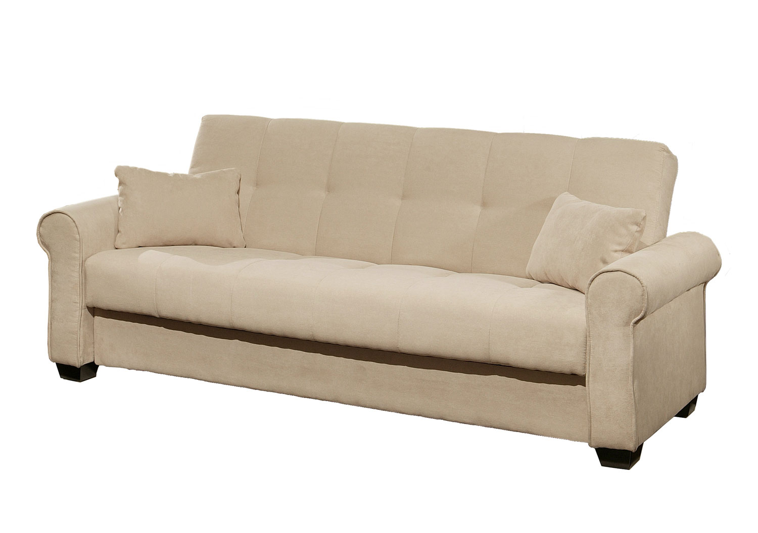 Abbyson Living Brighton Convertible Sofa With Storage Yg
