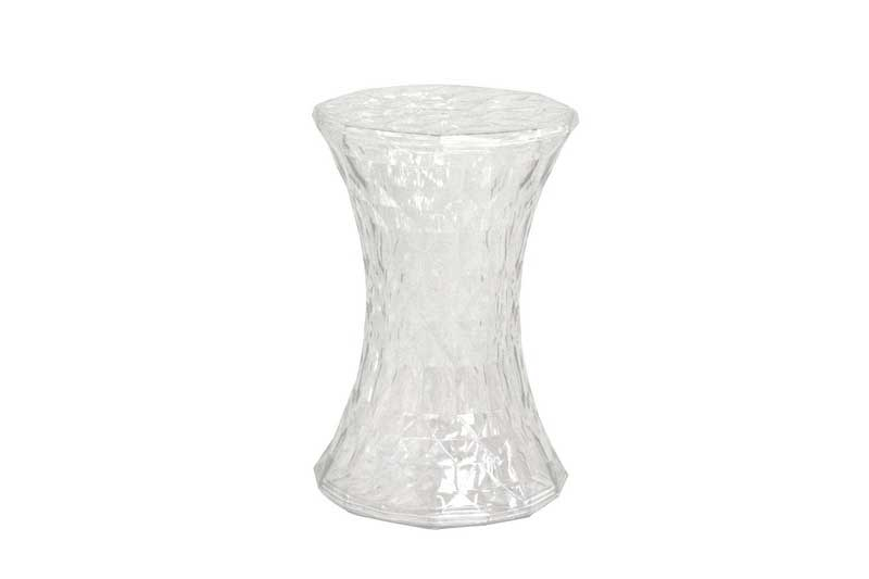Wholesale Interiors Dolly Clear Accent Chair Drum Stool