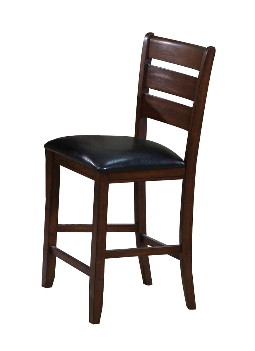 Acme Urbana Counter Height Chair - Black Vinyl/Cherry