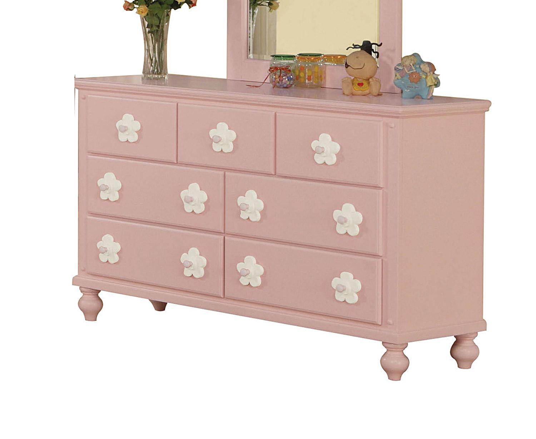 Acme Floresville Dresser - Pink (White Flower)