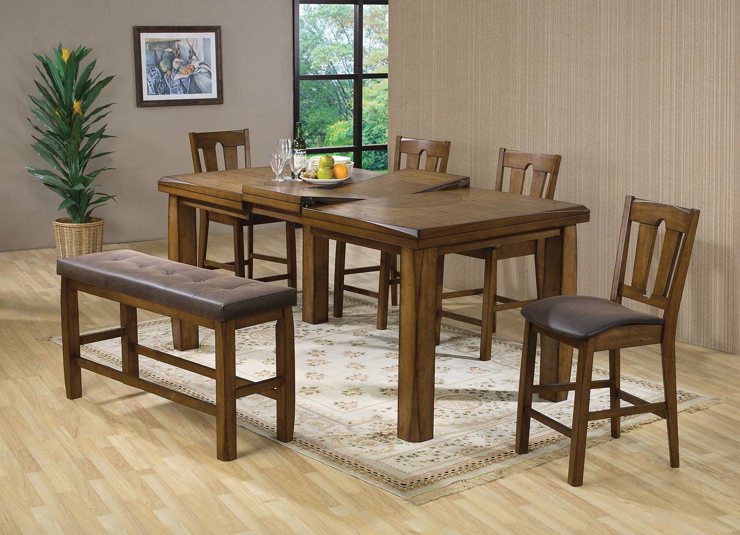 Acme Morrison Counter Height Dining Set - Oak
