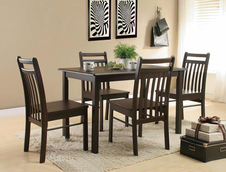 Acme Serra II Dining Set - Cappuccino