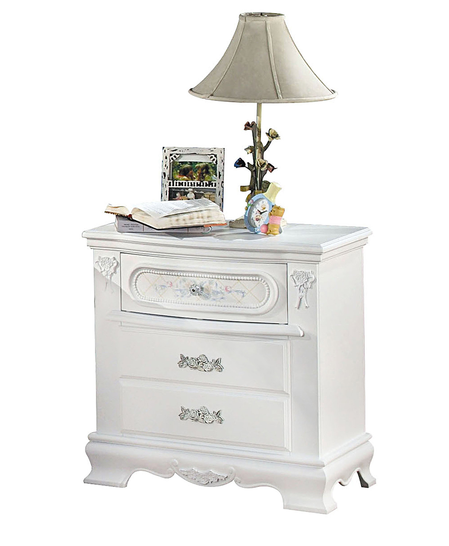 Acme Flora Nightstand - White
