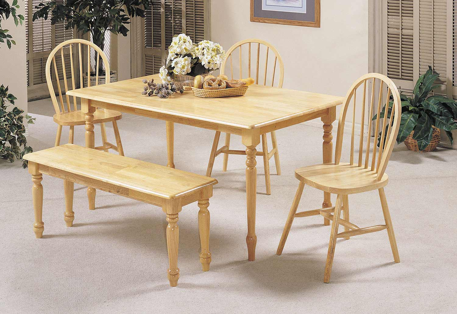 Acme Farmhouse Dining Set - Natural