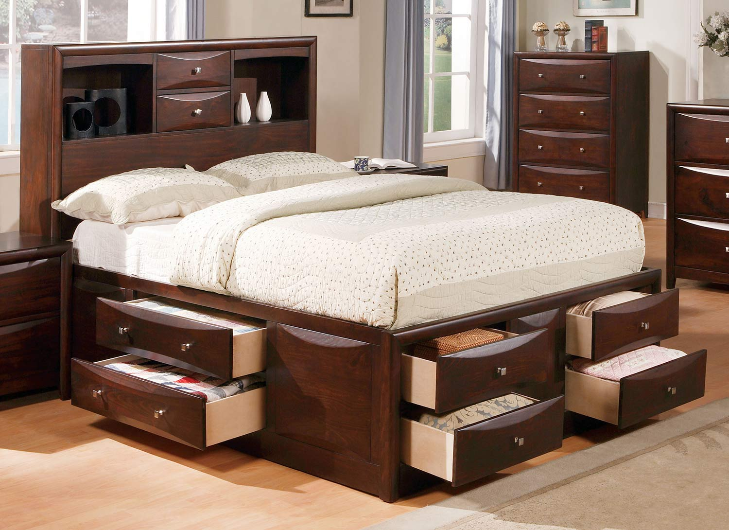 Acme Manhattan Bed with Storage - Espresso