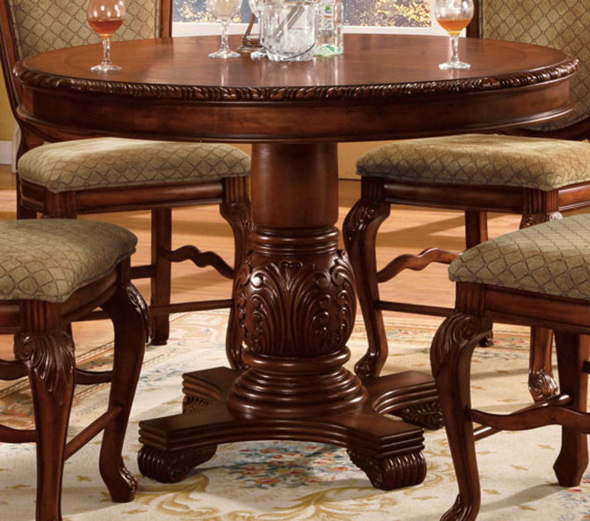 Acme Chateau De Ville Counter Height Table - Cherry