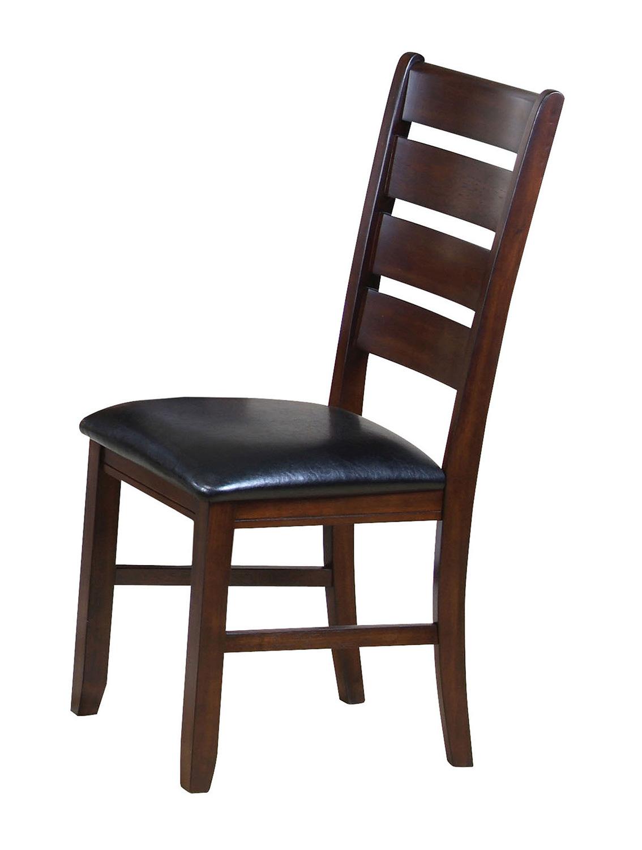 Acme Urbana Side Chair - Black Vinyl/Cherry