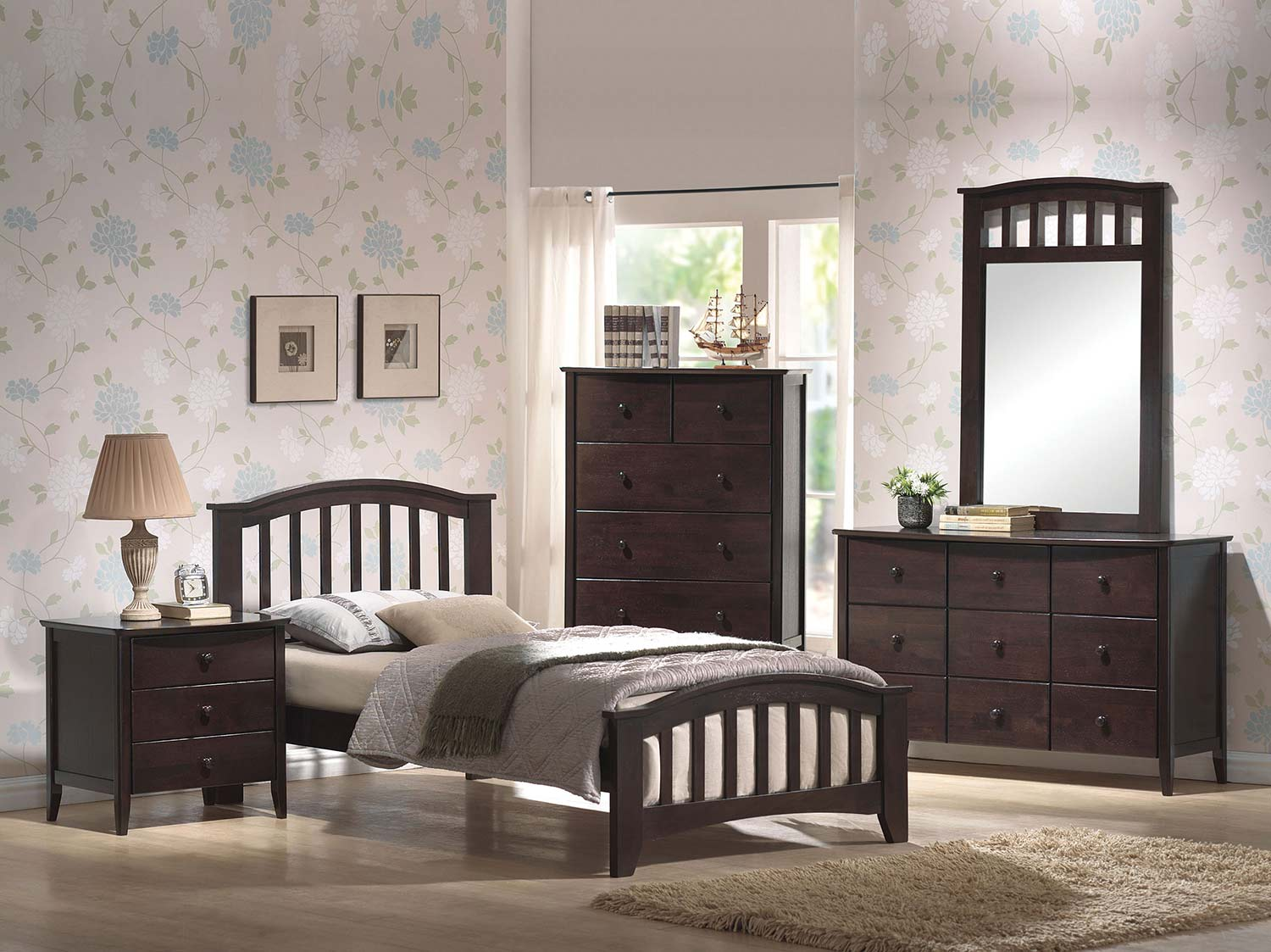 Acme San Marino Bedroom Set - Dark Walnut