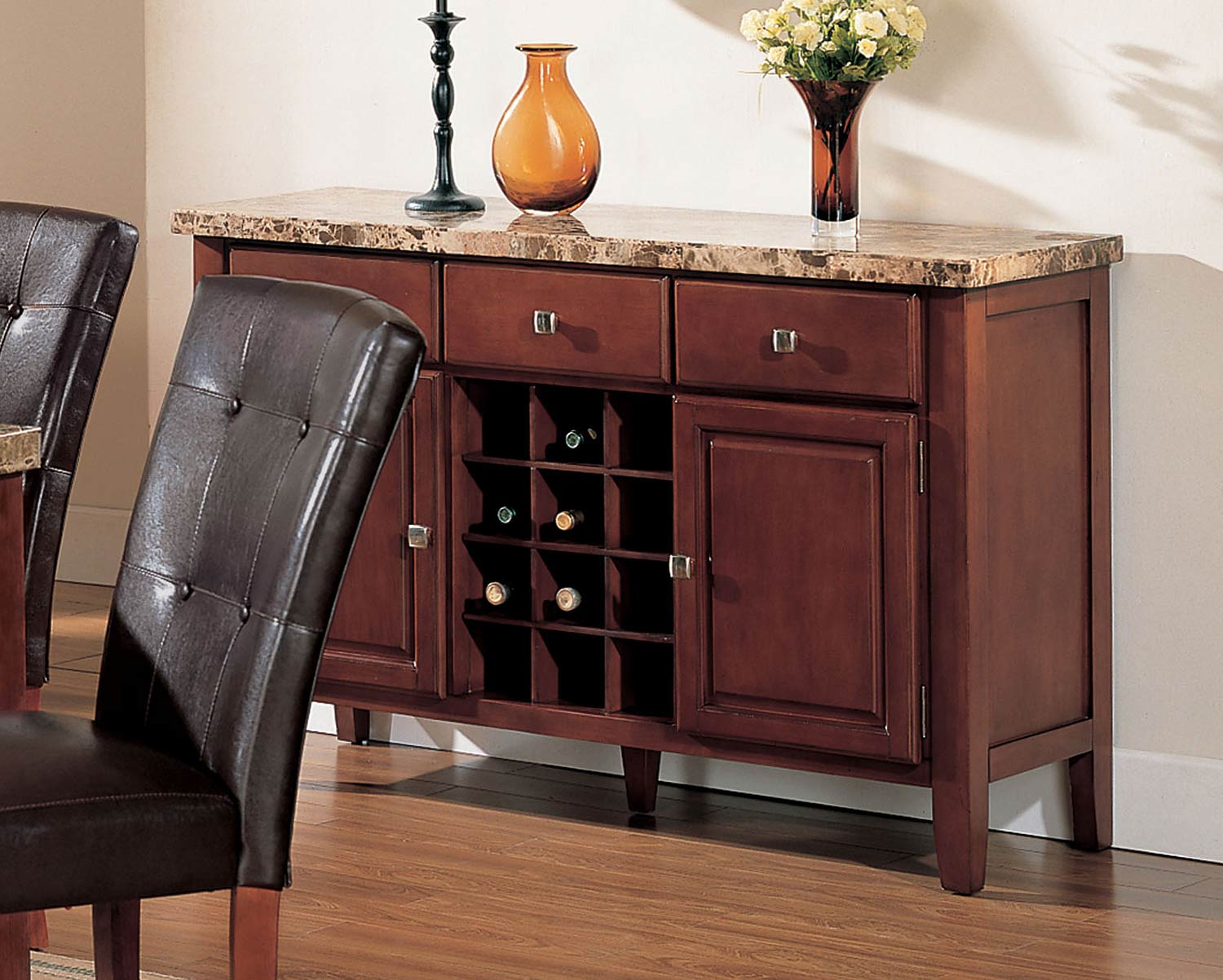 Acme Bologna Server - Brown Marble/Brown Cherry