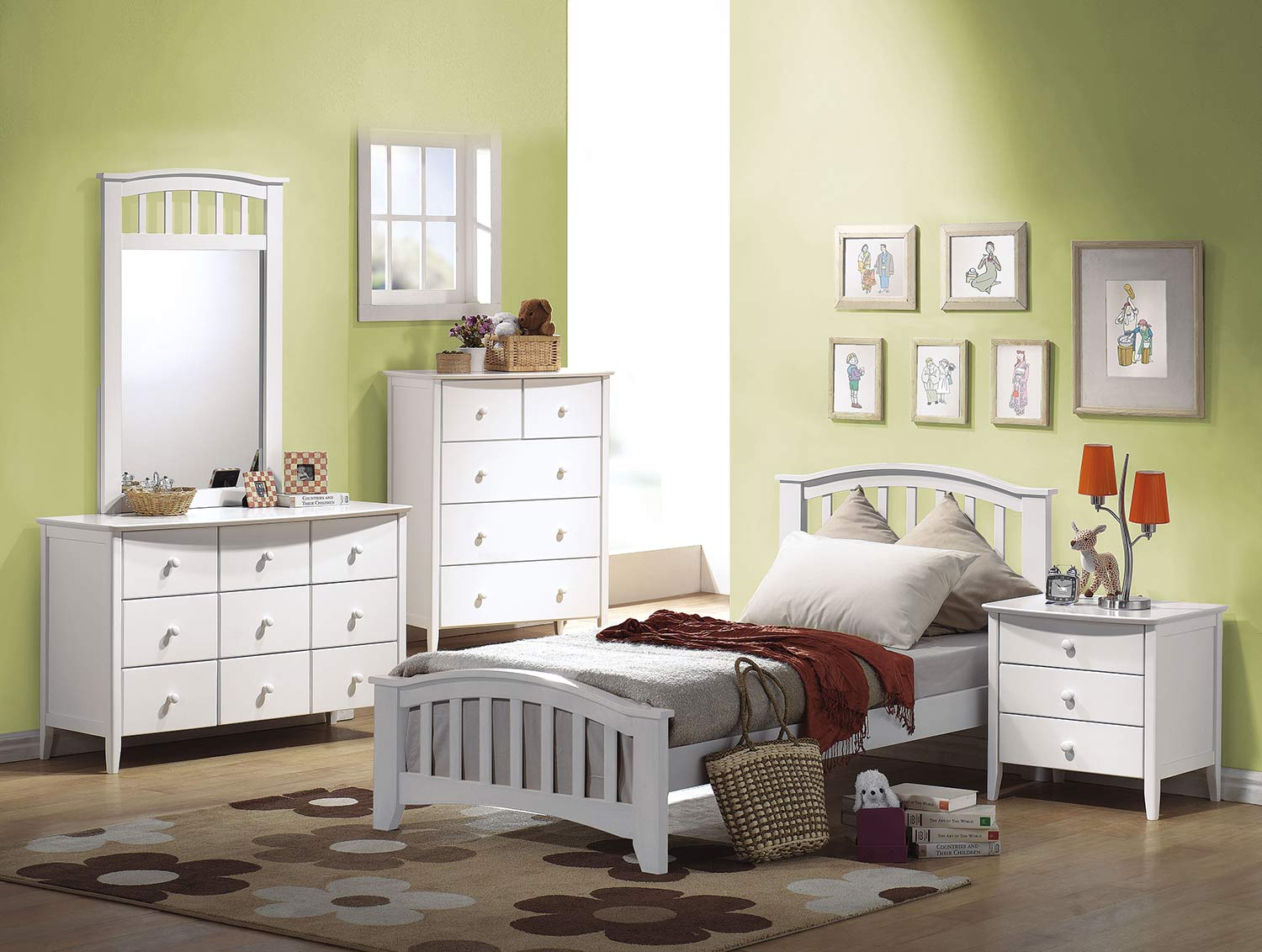 Acme San Marino Bedroom Set - White