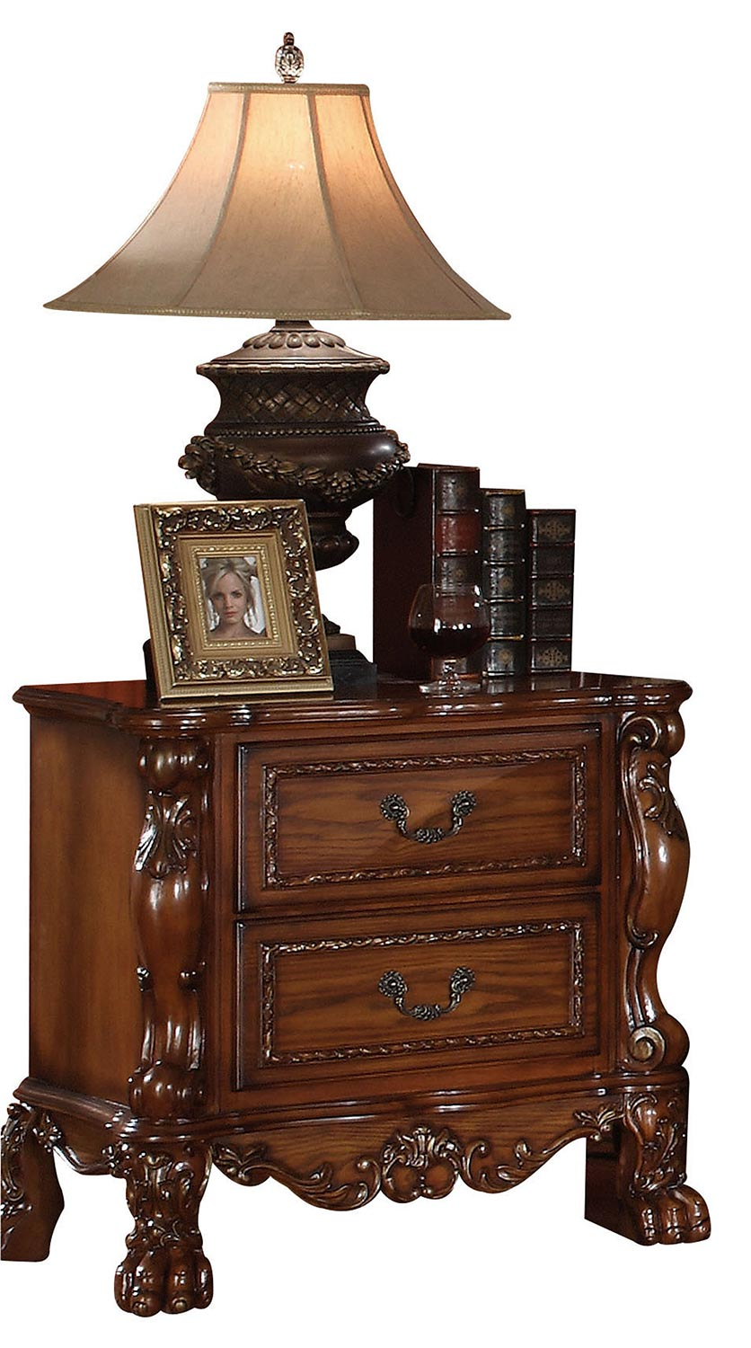 Acme Dresden Nightstand - Cherry Oak