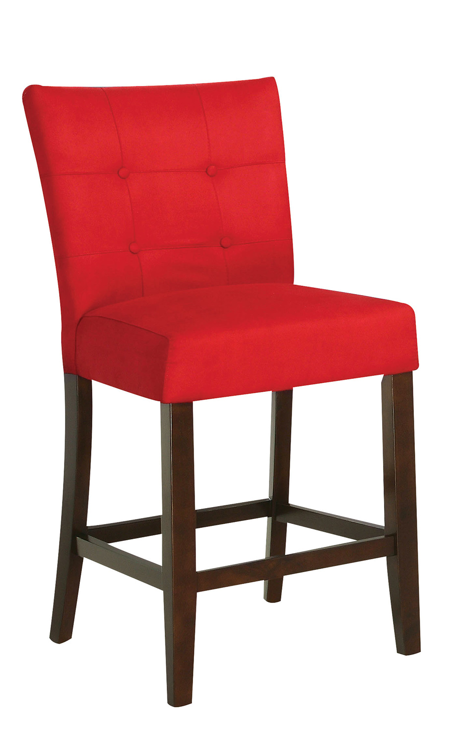 Acme Baldwin Counter Height Chair - Red/Walnut