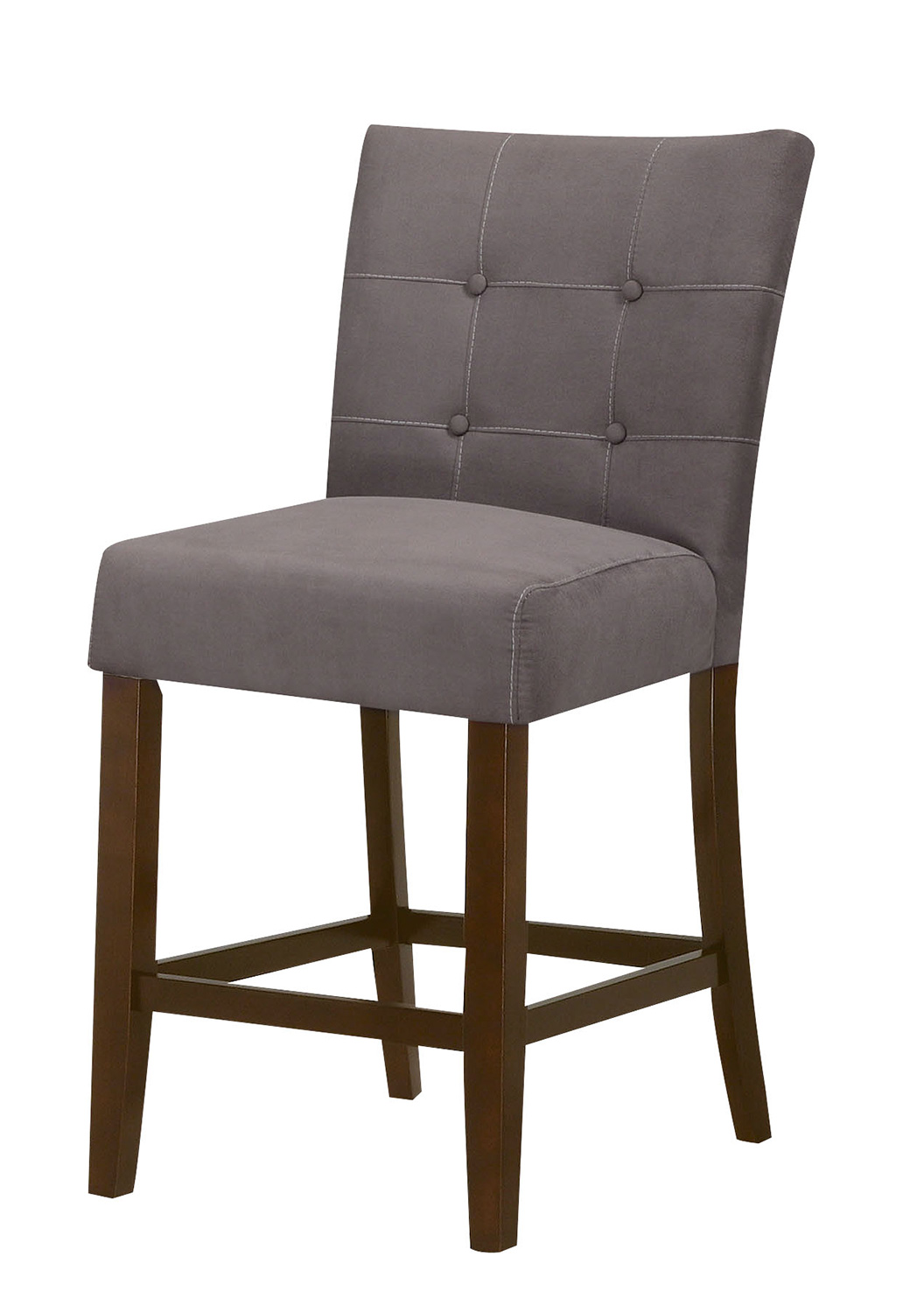 Acme Baldwin Counter Height Chair - Gray/Walnut