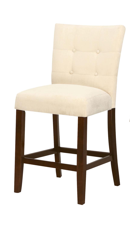 Acme Baldwin Counter Height Chair - Beige/Walnut