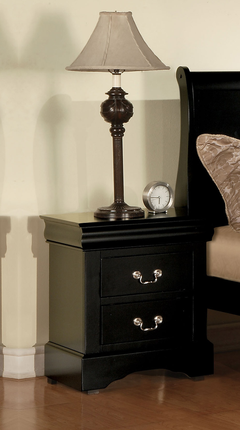 Acme Louis Philippe III Nightstand - Black