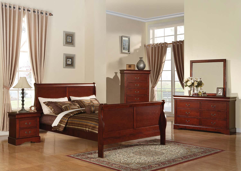 Acme Louis Philippe III Bedroom Set - Cherry