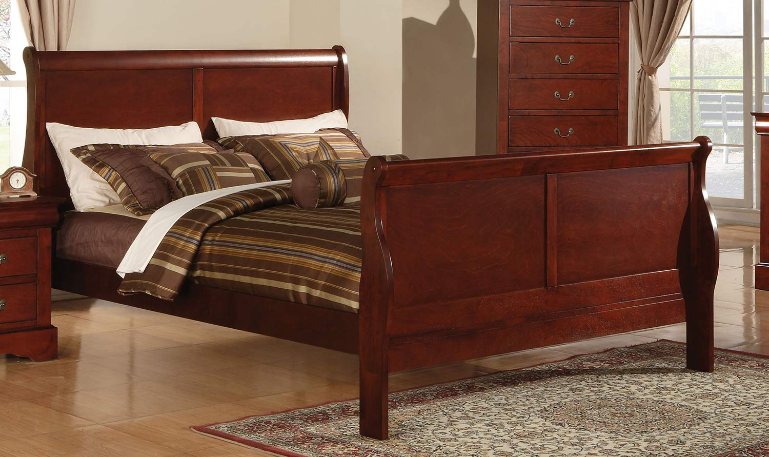Acme Louis Philippe III Bed - Cherry