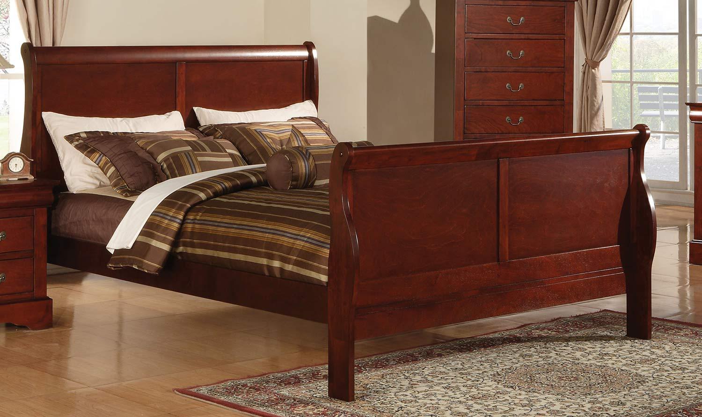 Acme Louis Philippe III Bed - Cherry
