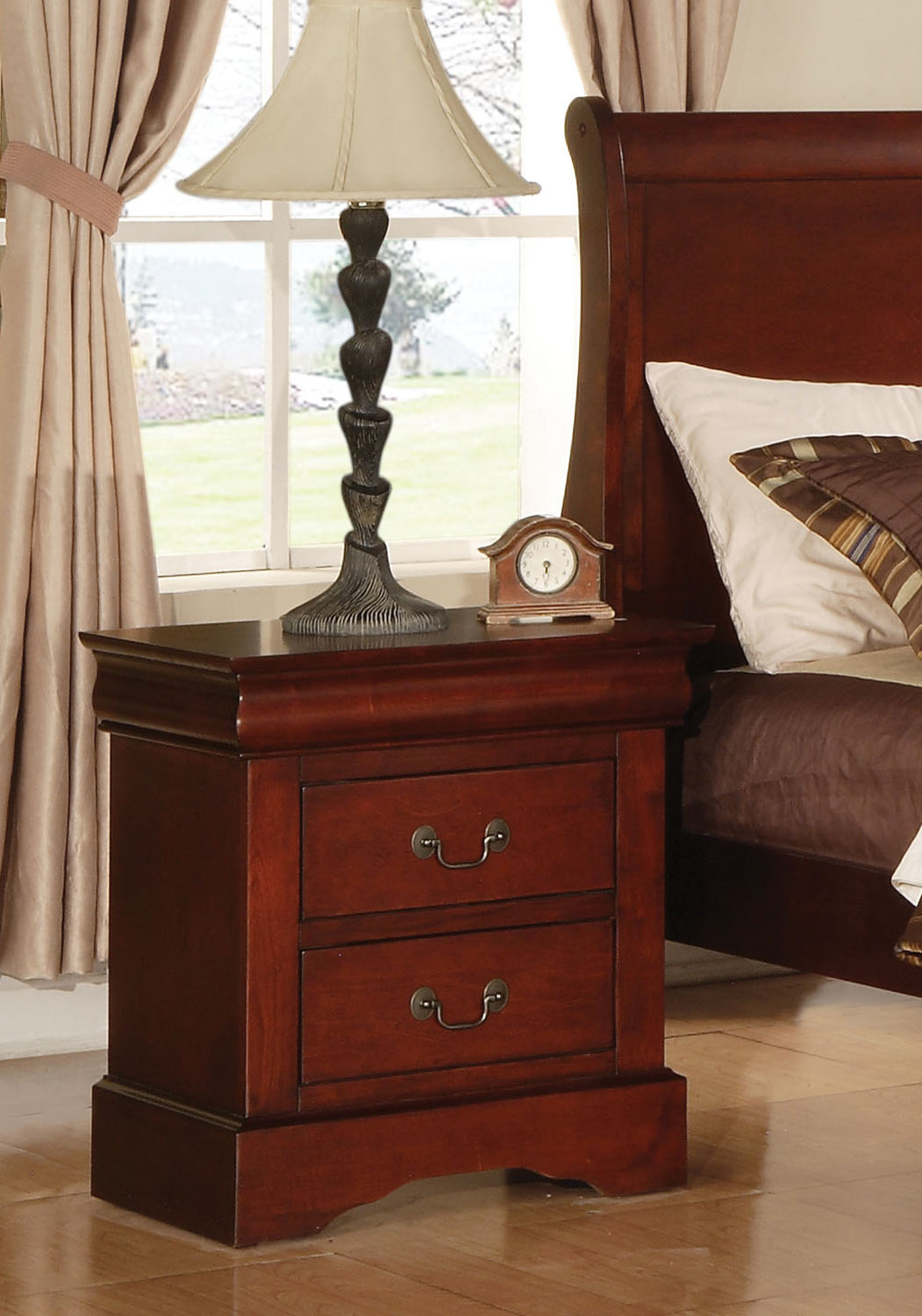 Acme Louis Philippe III Nightstand - Cherry