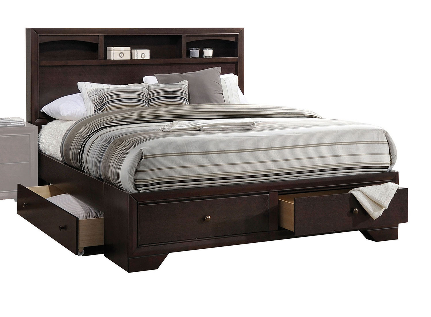 Acme Madison II Bed with Storage - Espresso