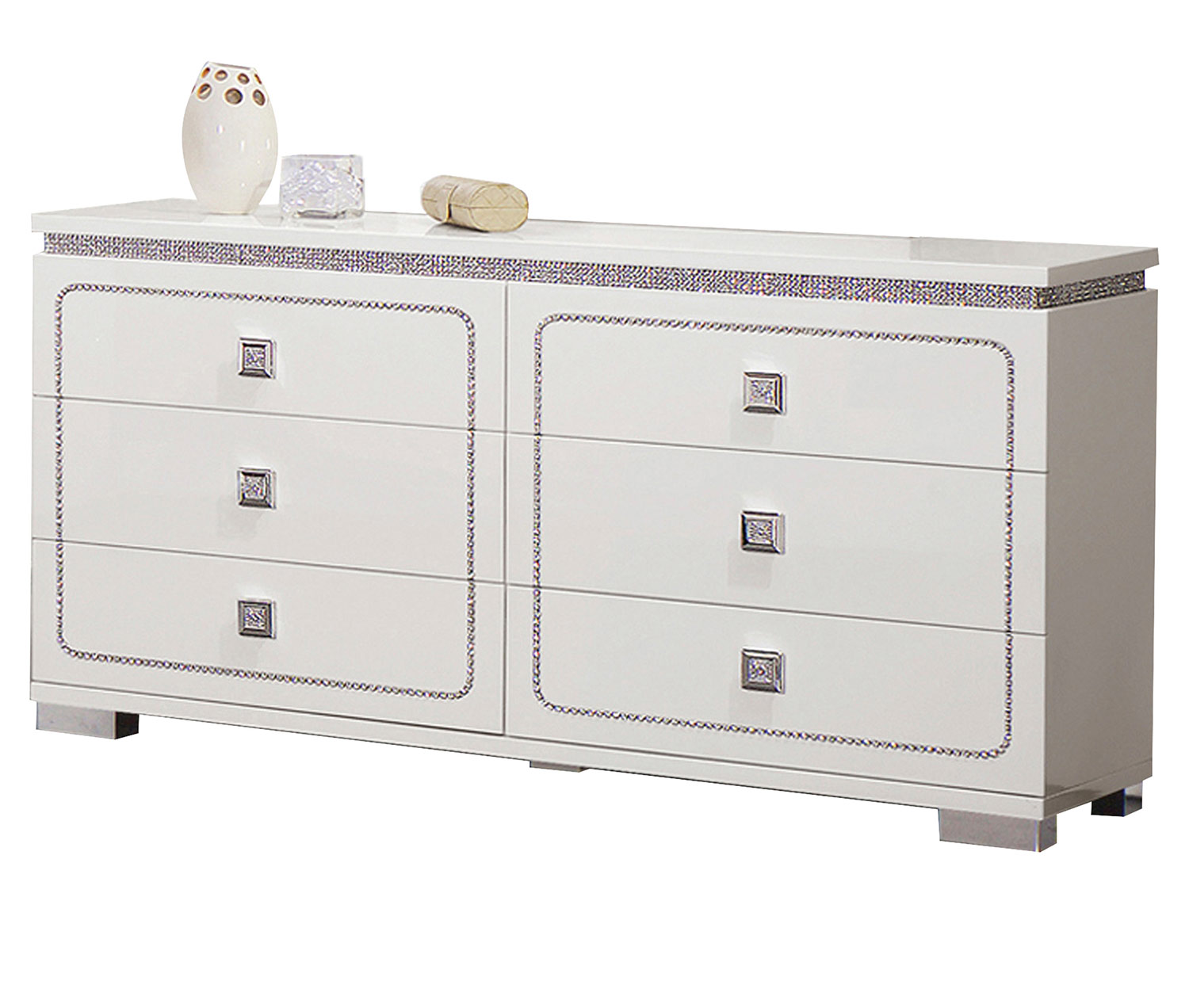 Acme Valentina Dresser - White High Gloss