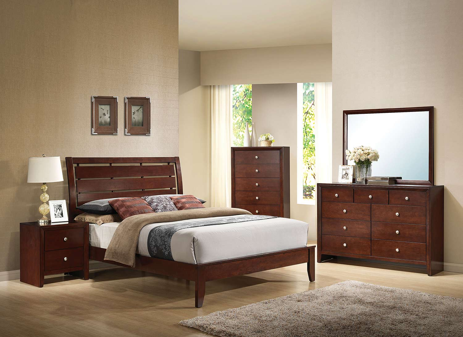 Acme Ilana Bedroom Set - Brown Cherry