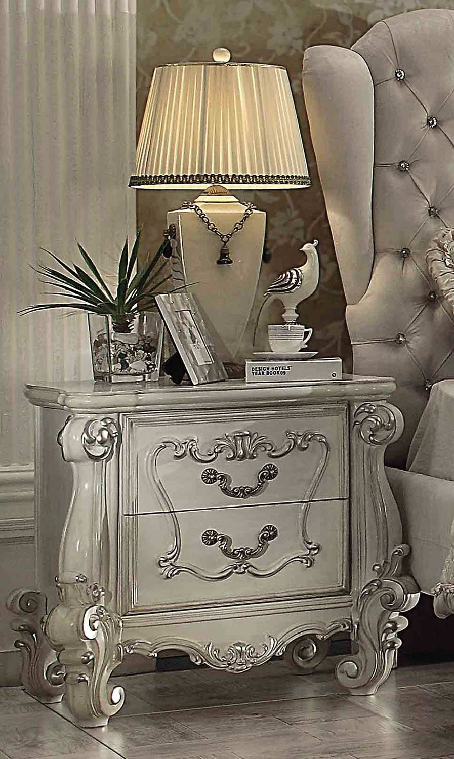 Acme Versailles Nightstand - Bone White