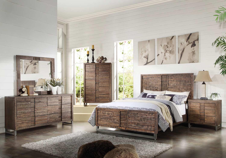 Acme Andria Bedroom Set - Reclaimed Oak
