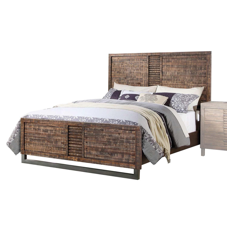 Acme Andria Bed - Reclaimed Oak