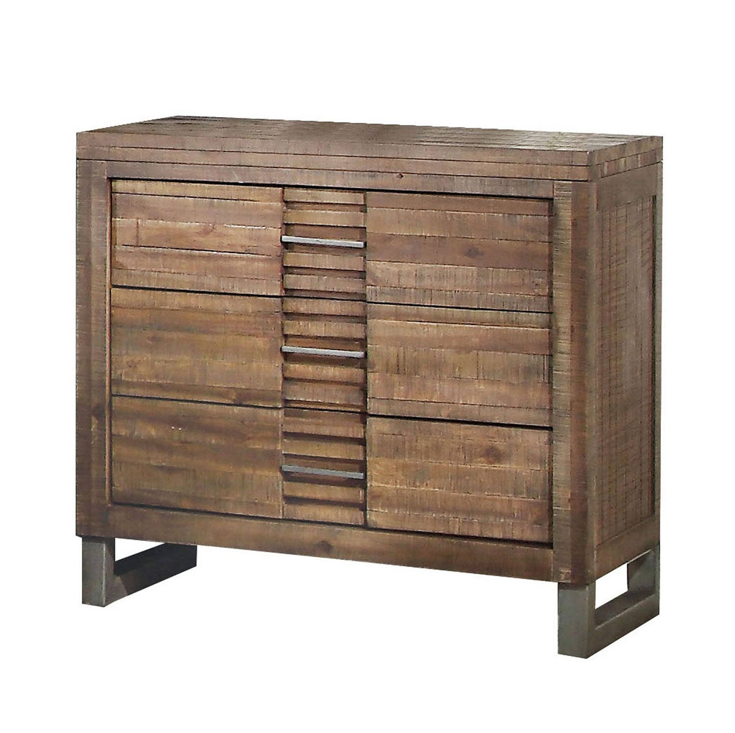 Acme Andria Nightstand with 3 Drawer - Reclaimed Oak