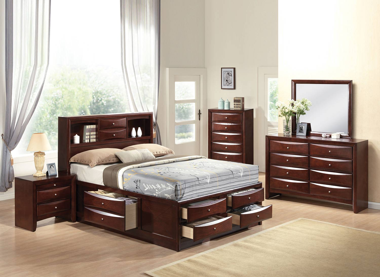 Acme Ireland Bedroom Set with Storage - Espresso