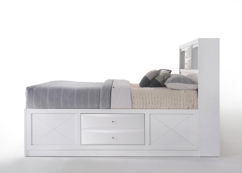 Acme Ireland Bed with Storage - White